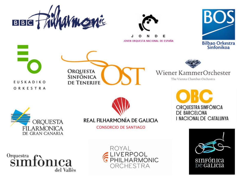 Algunas de las orquestas colaboradoras del concurso