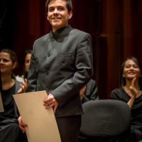 Nuno Coelho, the winner of the XII Cadaqués Orchestra International Conducting Competition
